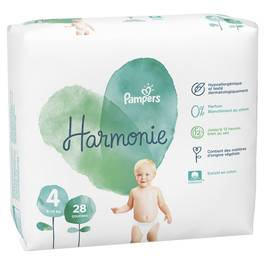 Pampers Harmonie Couche Taille 4 - 9/14 Kg