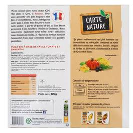Carte Nature Pizza marguerita bio