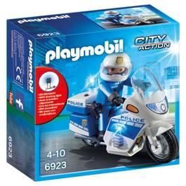 PLAYMOBIL® City Action Moto de policier avec gyrophare