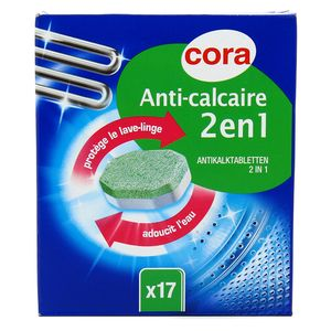 Cora Anti-calcaire 2en1 lave-linge