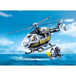 PLAYMOBIL® City Action Hélicoptère et policiers d'élite