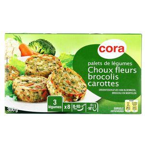 Cora 8 Palets de choux fleurs, brocolis et carottes