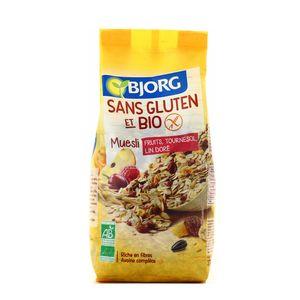Bjorg Muesli fruits, tournesol, lin doré bio et sans gluten