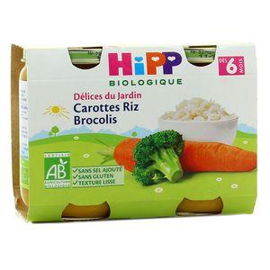 Hipp Carottes riz brocolis bio, dès 6 mois