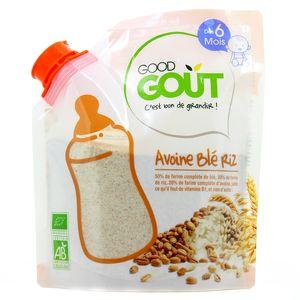 Good Goût Céréales avoine, blé, riz bio dès 6 mois