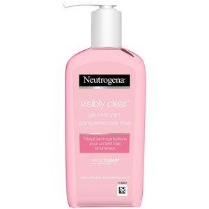 Neutrogena Gel Nettoyant Exfoliant Pamplemousse Rose Visibly Clear