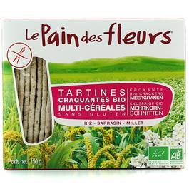 Tartines Multi-Céréales, sans gluten, Bio,LE PAIN DES FLEURS,150g