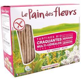 Le pain des fleurs Tartines Multi-Céréales, sans gluten, Bio