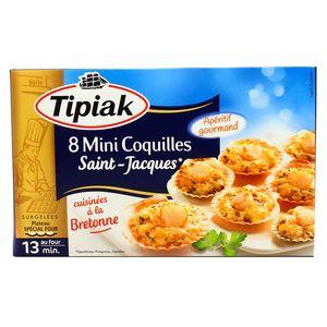 Tipiak 8 mini coquilles saint jacques la bretonne 100g - Coquille saint jacques bretonne champignons ...