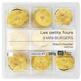 Mix Buffet Mini burger cheddar 180g