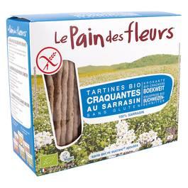Le pain des fleurs Tartines sarrasin, sans sel ni sucre ajouté, sans gluten, Bio