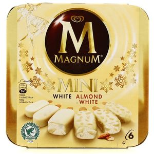 Magnum mini 6 mini btonnets white mix 2 parfums assortis - Magnum chocolat blanc ...