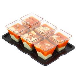 Mix Buffet Verrine crème de pesto, tomates mi-séchées & parmesan