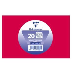 Clairefontaine 20 Enveloppes de visite rouge