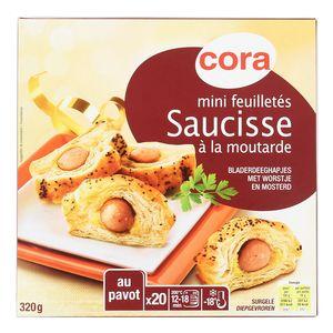 Cora 20 Mini feuilletés saucisses à la moutarde