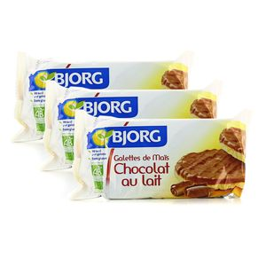 bjorg galettes de ma s chocolat au lait bio lot de 3x100g. Black Bedroom Furniture Sets. Home Design Ideas