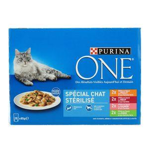 Purina One Effilés en sauce spécial chat stérilisé