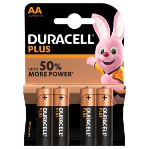 Duracell Pile alcalines Plus Power AA/LR6