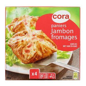 Cora 4 Paniers feuilletés jambon et 3 fromages