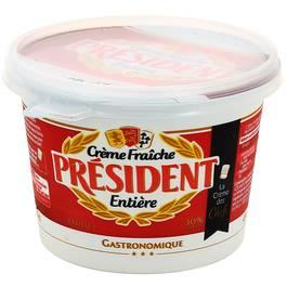 Président Crème fraîche épaisse 30% de Mat.gr