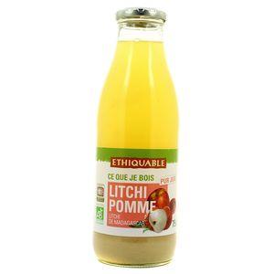 Ethiquable Jus Litchi Pomme Bio