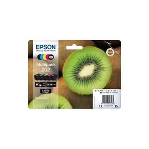 Epson Cartouches d'encre Multipack 202 Kiwi - Noire + 3 couleurs + Noire photo