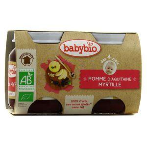 Babybio - Mes Fruits Pomme myrtille bio, dès 4 mois