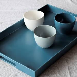 Zak Designs Set de 3 petits bols Blanc/Gris/Bleu FJORD en mélamine