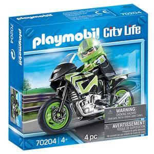 PLAYMOBIL® City Life Pilote et moto