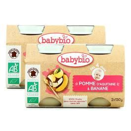 Babybio Pomme d'Aquitaine & Banane bio, dès 4 mois