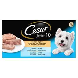 César Barquettes pour chiens Senior 10+