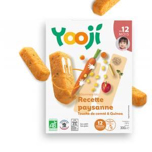 Yooji Mes petits Bâtonnets Bio- Recette paysanne quinoa et touche de Comté dès 12 mois