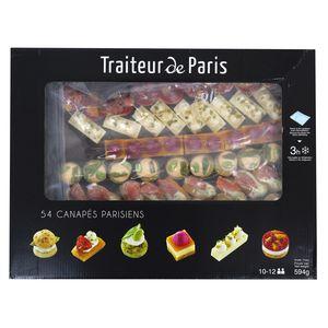 Traiteur de Paris 54 canapés Parisiens- 6 recettes tendance et panachées