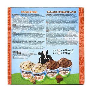 Ben&Jerry's 4 mini pots crème glacée Cookie & Brownie cool-lection 4x100ml