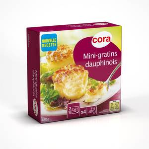 Cora 4 Mini Gratins Dauphinois 4x120g