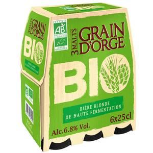 Grain d'Orge Bière blonde BIO 6.8°