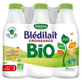 Blédina - Blédilait Lait de croissance Bio de 1 à 3 ans