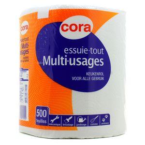 cora essuie tout multi usages 500 feuilles 1 rouleau. Black Bedroom Furniture Sets. Home Design Ideas