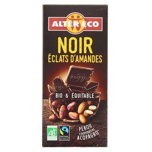 Alter Eco - Commerce Equitable Chocolat noir éclats d'amandes bio