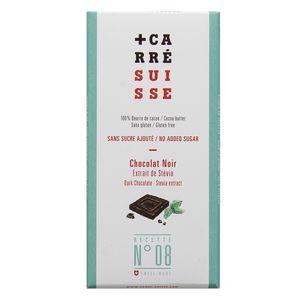 Carré Suisse Chocolat noir extrait de stévia sans sucre ajouté