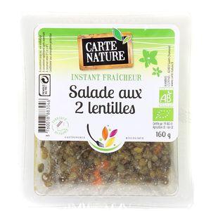 Carte Nature Salade aux 2 lentilles, Bio