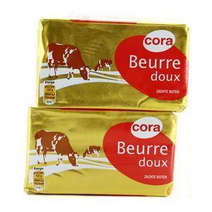 Beurre plaquette doux ,CORA,