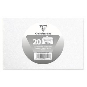 Clairefontaine 20 Enveloppes de visite blanches irisées