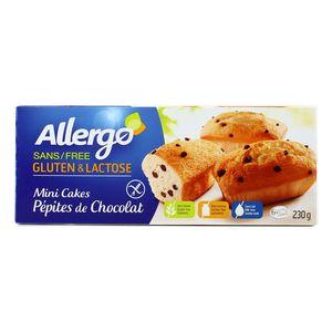 Allergo Mini cakes pépites de chocolat sans gluten et sans lactose