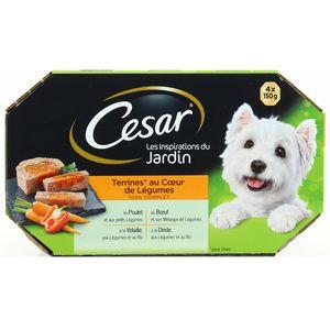 César Les inspirations du jardin Terrines au coeur de légumes pour chien