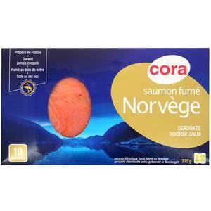 Cora Saumon fumé Norvège, 375g