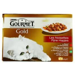 Gourmet Gold Les Noisettes boîtes chat pour adulte