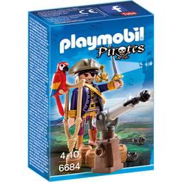 PLAYMOBIL® Pirates Capitaine pirate avec canon