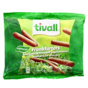 Saucisses de Francfort végétariennes,Tivall,300g
