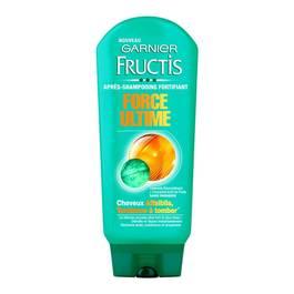 Garnier - Fructis Force Ultime - Après-Shampooing fortifiant Cheveux fragilisés - Lot de 3
